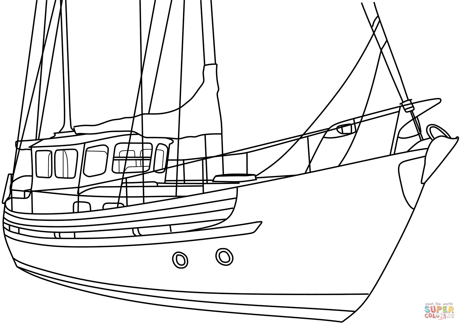 how to draw a fishing boat step by step motorsailer boat ぬりえ free printable coloring pages step draw to by step fishing how boat a