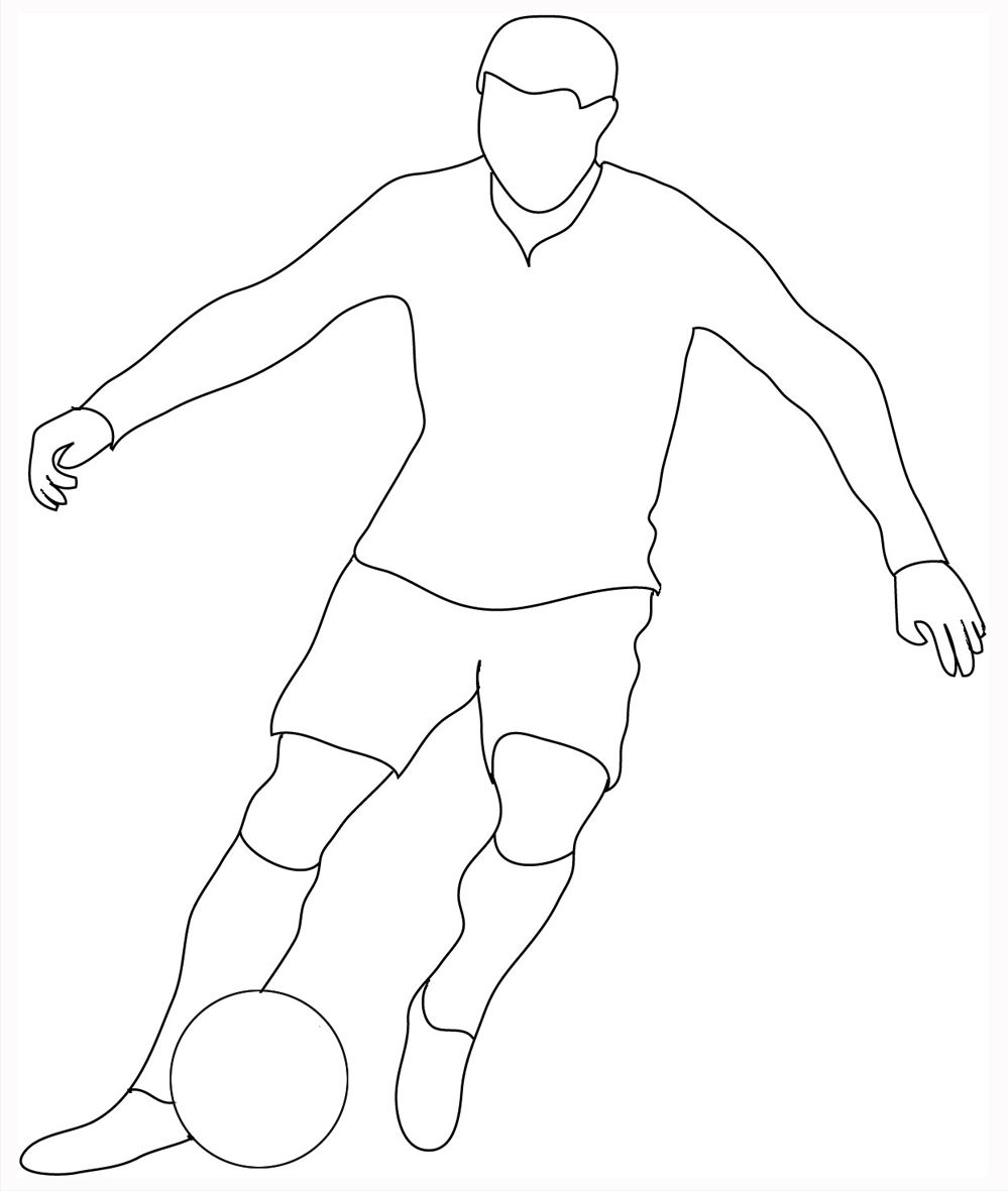 how to draw a football player easy free drawing of football players download free clip art to a how draw football player easy