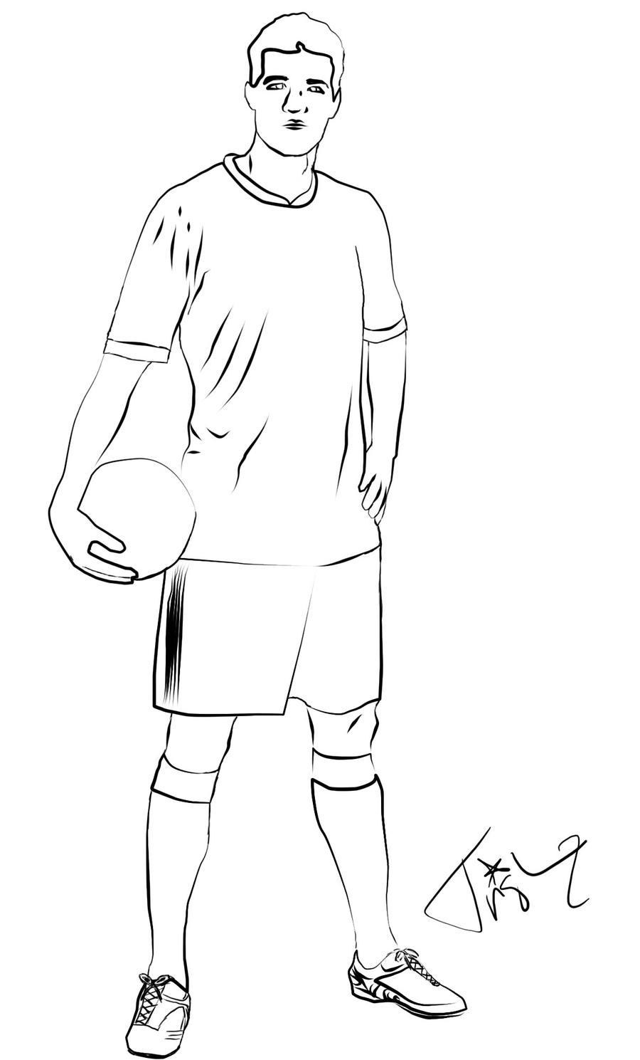 how to draw a football player easy free football player drawing download free clip art free player to easy a football draw how