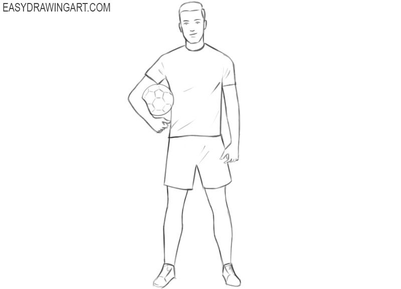 how to draw a football player easy soccer player dribbling coloring page soccer coloring draw how a to football player easy