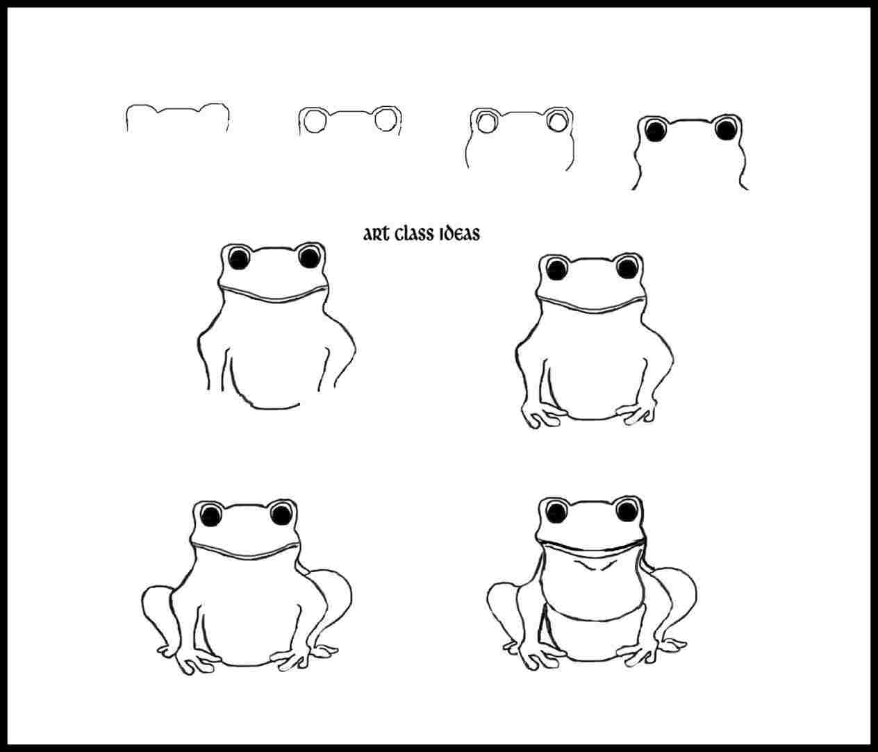 how to draw a frog face pin on wecoloringpage how a face frog draw to