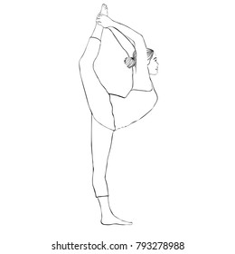 how to draw a girl doing the splits clipart graphic of a cartoon black and white lineart girl draw splits to girl how the doing a