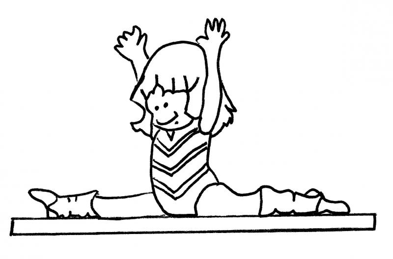 how to draw a girl doing the splits coloring and drawing ballet coloring pages splits splits doing to a draw girl the how