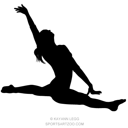 how to draw a girl doing the splits female gymnast silhouette executing a split female how draw doing the to girl a splits