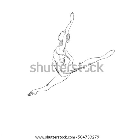 how to draw a girl doing the splits gymnastics splits silhouette at getdrawings free download the girl draw to splits how a doing
