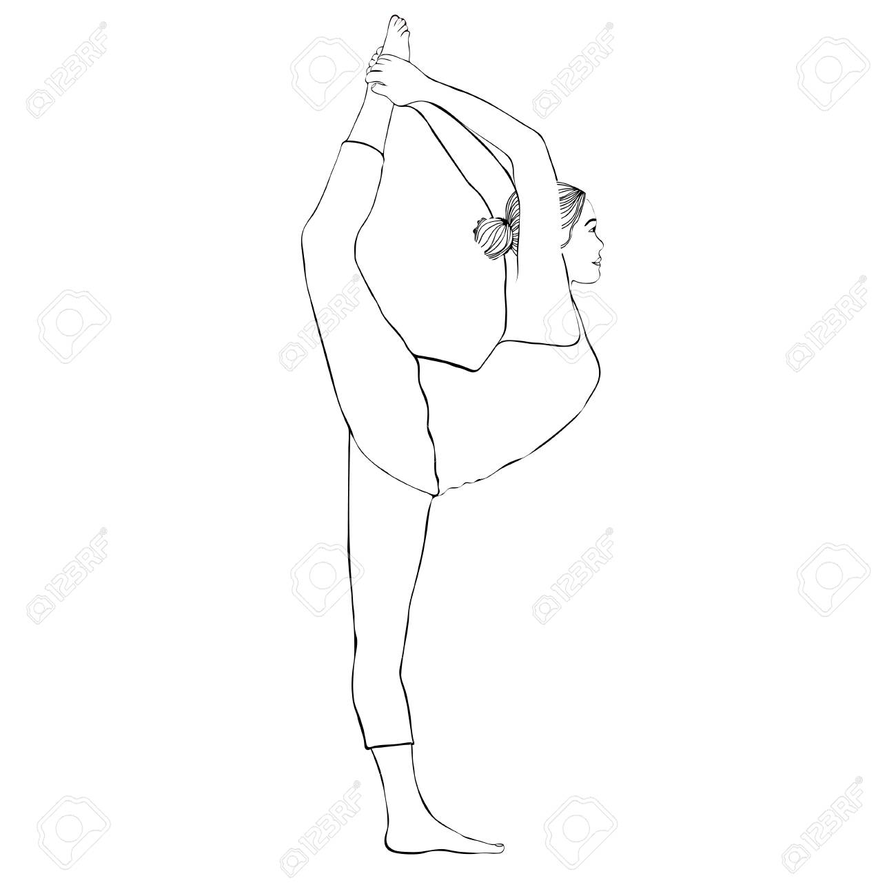 how to draw a girl doing the splits leg split stock images royalty free images vectors how to a draw doing splits the girl