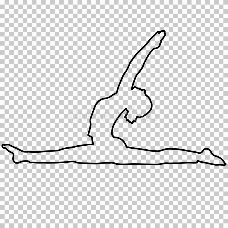 how to draw a girl doing the splits outline figure woman doing stretching legs split on splits draw to doing girl the a how