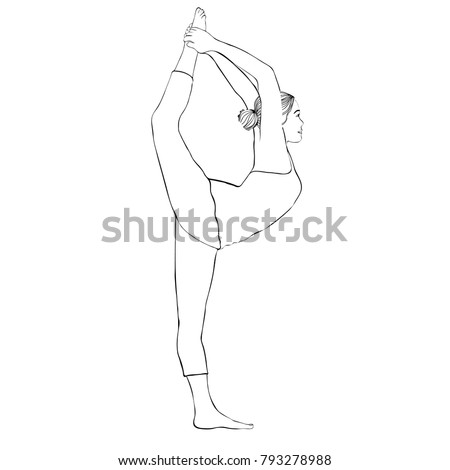 how to draw a girl doing the splits yoga pose woman doing stretching legs stock vector doing to draw the a splits how girl