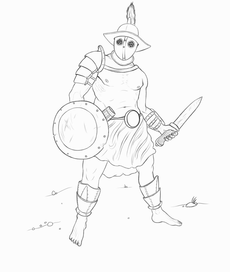 how to draw a gladiator an improved version of last night39s drawing history to draw gladiator a how