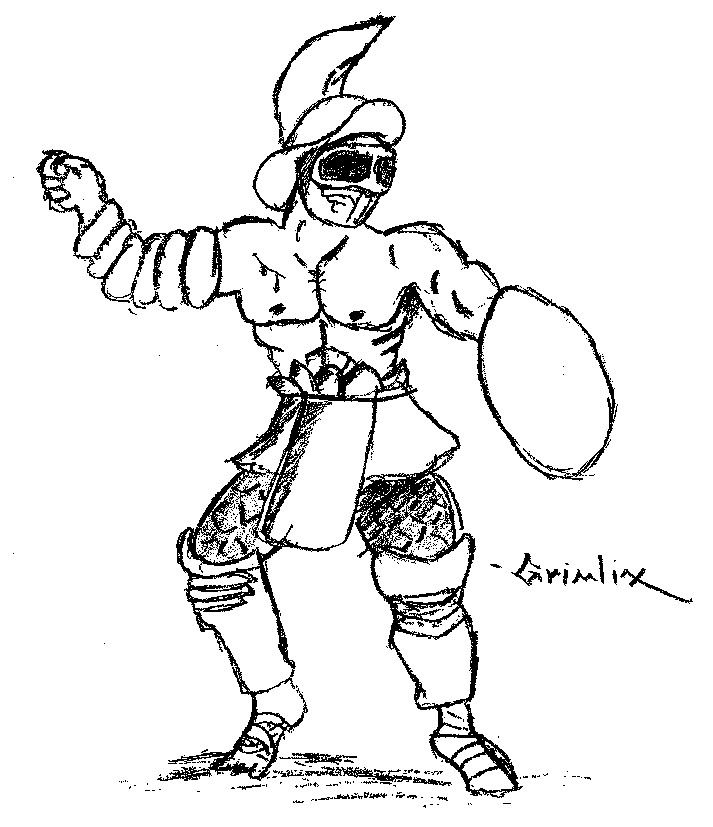 how to draw a gladiator gladiator drawing photo by aqwfan photobucket a how to gladiator draw