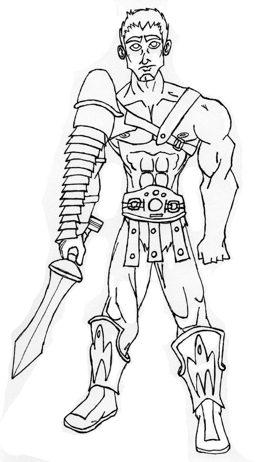 how to draw a gladiator the gladiator by gun1griffin on deviantart a draw gladiator to how