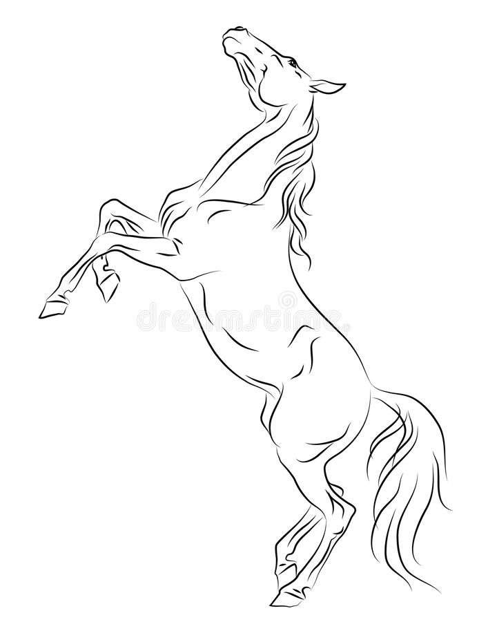 how to draw a horse standing up how to draw a horse standing easy step by step for kids a standing how up draw horse to