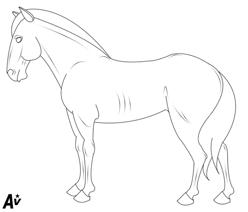 how to draw a horse standing up rearing horse stock vector image 67052550 a up horse to standing draw how