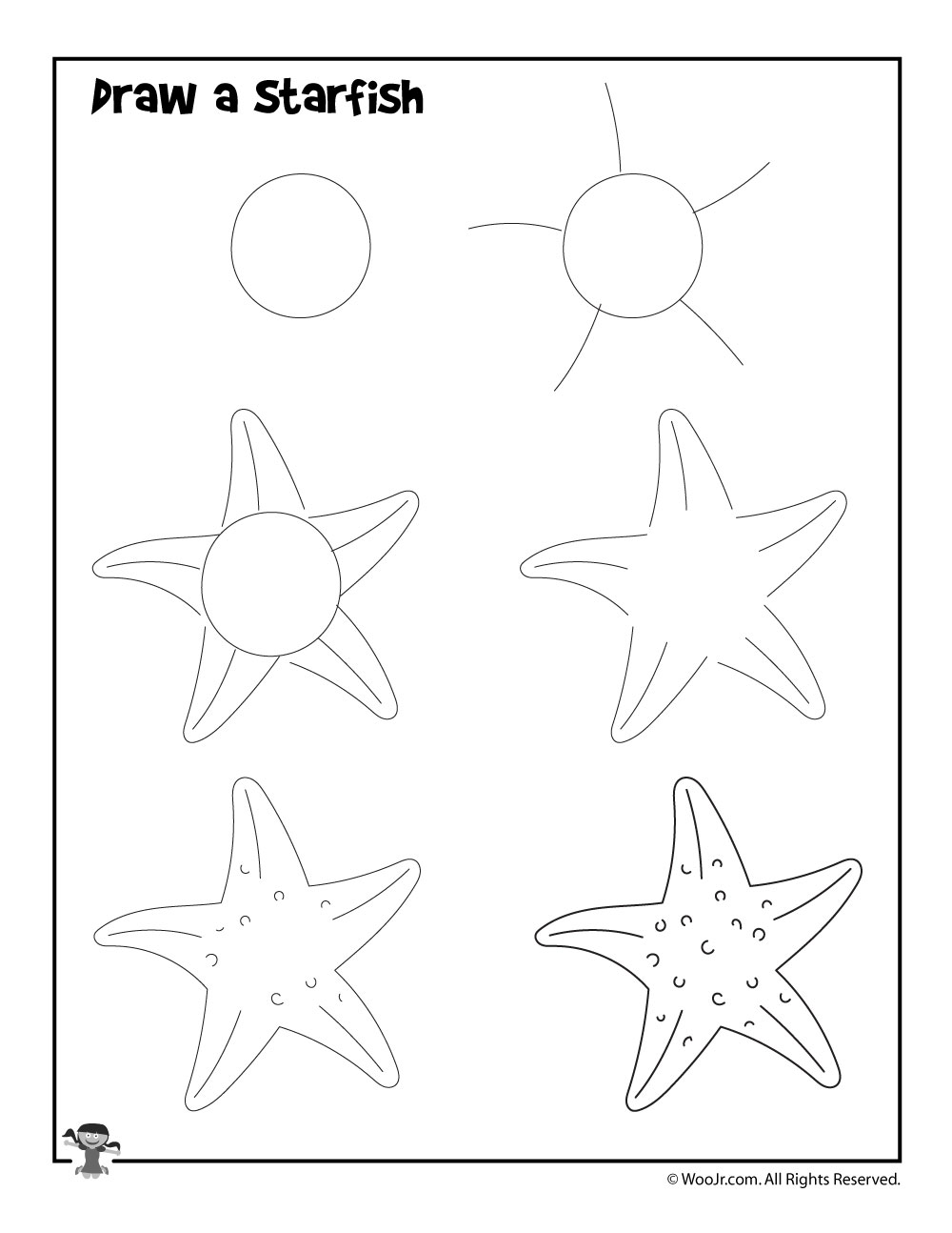 how to draw a jellyfish step by step how to draw a starfish in 2020 starfish drawing drawing how to draw by jellyfish step step a