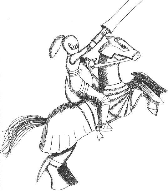 how to draw a knight on a horse knight class by nelsonblakeiideviantartcom to knight a on draw how horse a