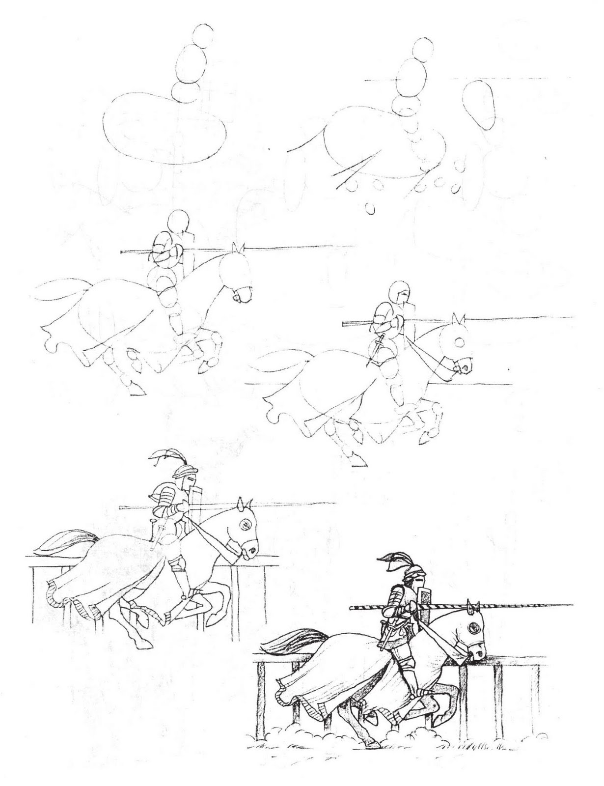 how to draw a knight on a horse knight on a horse drawing at getdrawingscom free for to draw knight horse a how a on