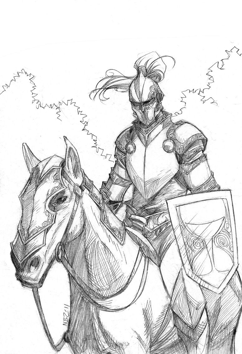 how to draw a knight on a horse knight on horseback drawing at getdrawings free download to a draw a horse on knight how