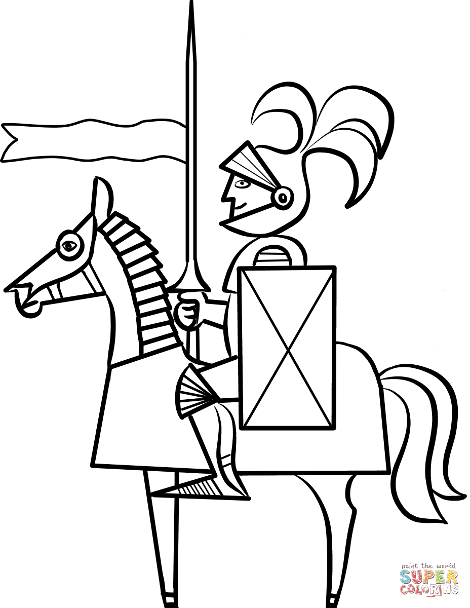 how to draw a knight on a horse knight ride steel horse coloring page coloring sky in horse to a draw a on knight how