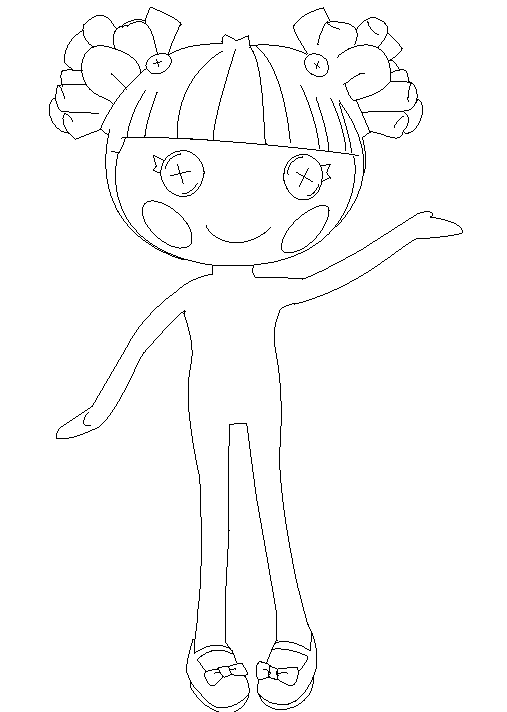 how to draw a lalaloopsy doll lalaloopsy dolls colouring pages coloring books how doll to draw a lalaloopsy