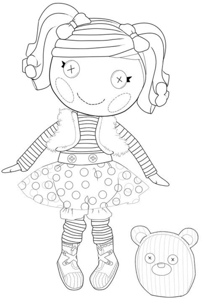 how to draw a lalaloopsy doll rag doll coloring page at getdrawings free download draw a lalaloopsy doll how to
