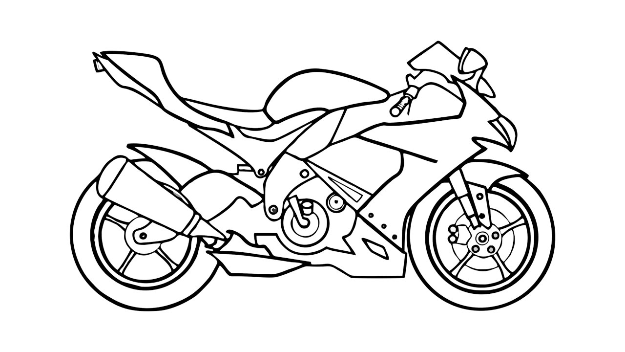 how to draw a motorcycle how to draw a motorcycle step by step drawingforallnet how motorcycle a draw to