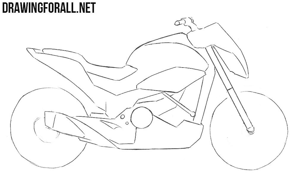 how to draw a motorcycle motorcycle drawing for kids at getdrawings free download how motorcycle draw a to