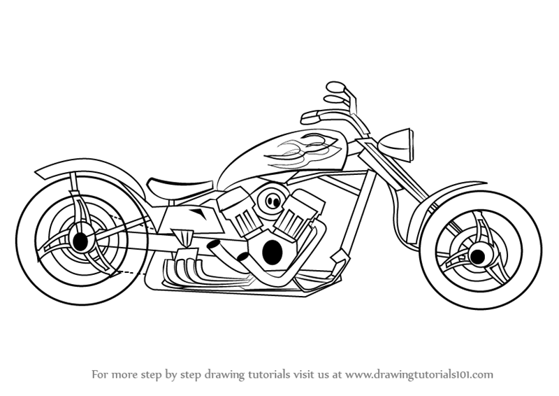 how to draw a motorcycle motorcycle drawing images at getdrawings free download draw to a how motorcycle