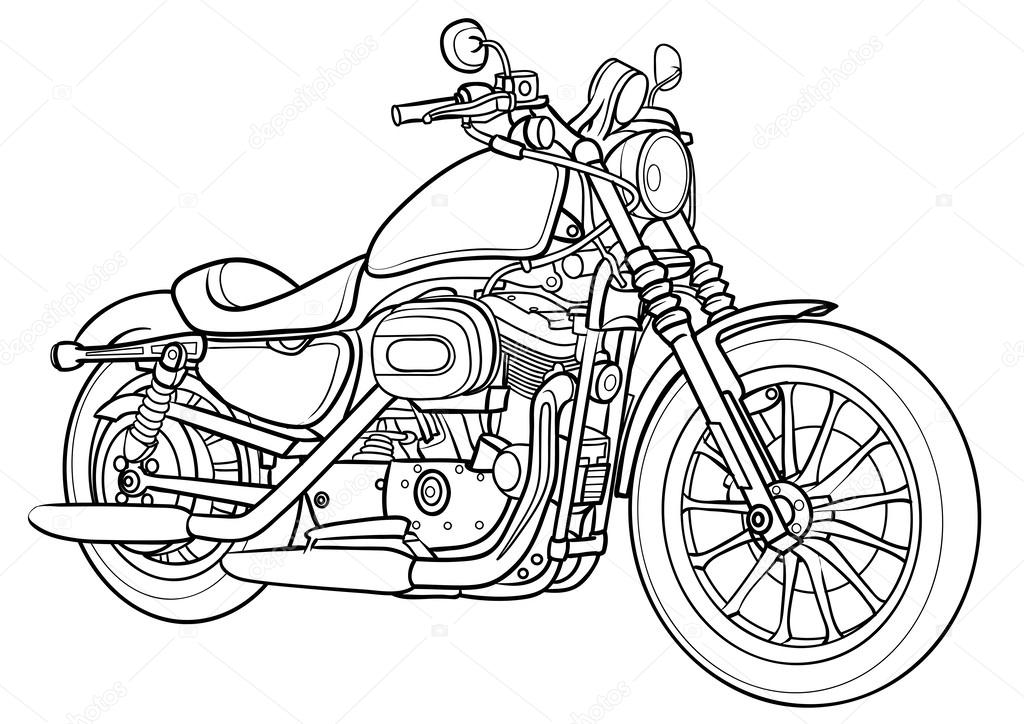 how to draw a motorcycle motorcycle outline drawing at getdrawings free download how motorcycle a to draw