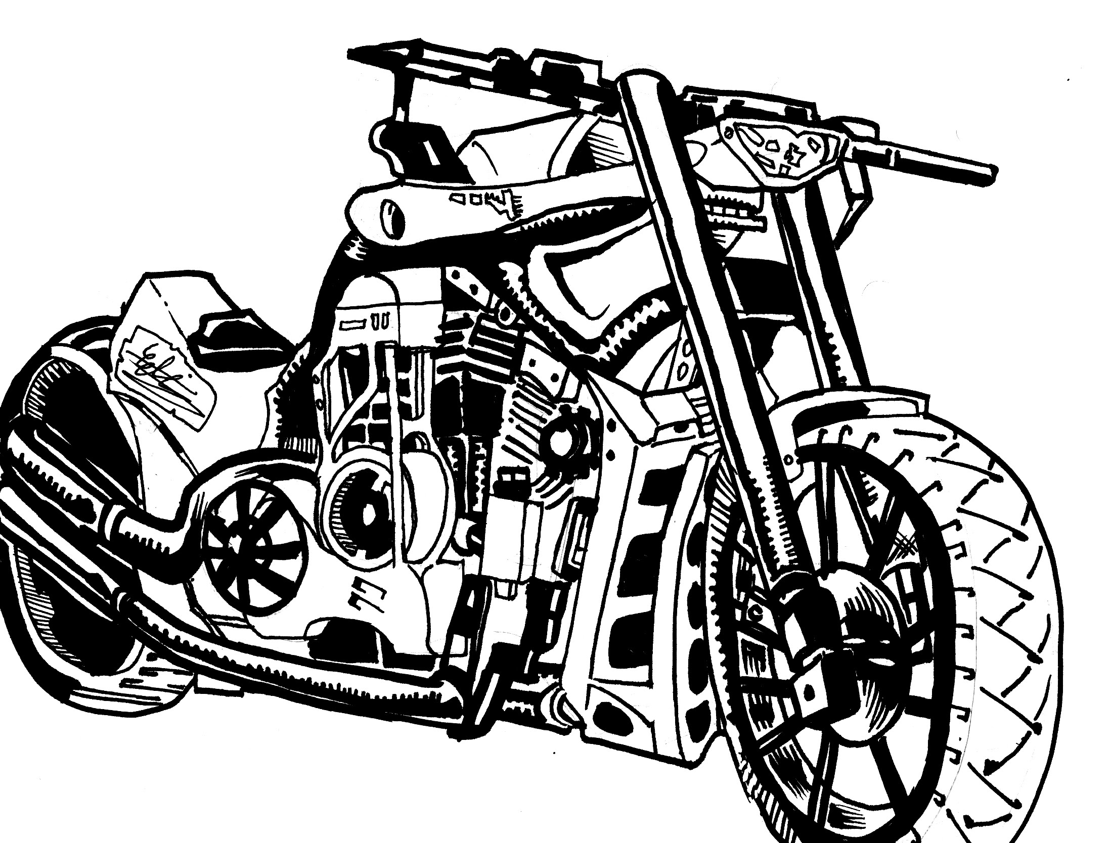 how to draw a motorcycle motorcycle pencil drawings 500 internal server error to a how draw motorcycle