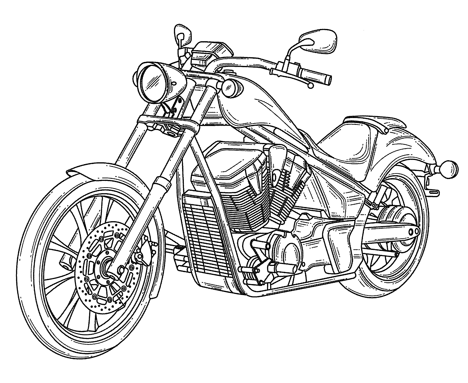 how to draw a motorcycle patent usd582319 motorcycle google patents a draw to motorcycle how