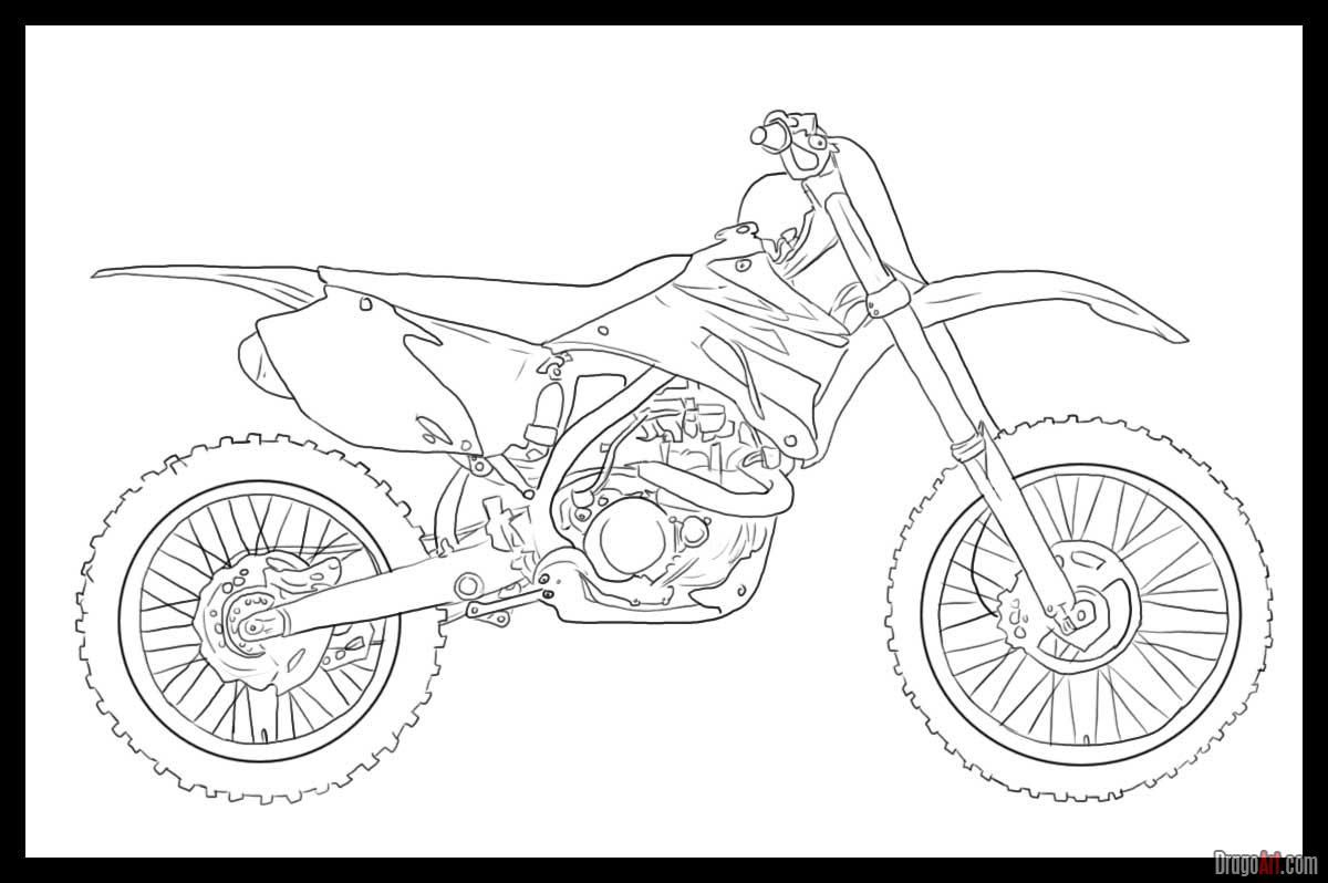 how to draw a motorcycle pin by liesl rascon on paintings bike drawing dirt bike how draw motorcycle a to