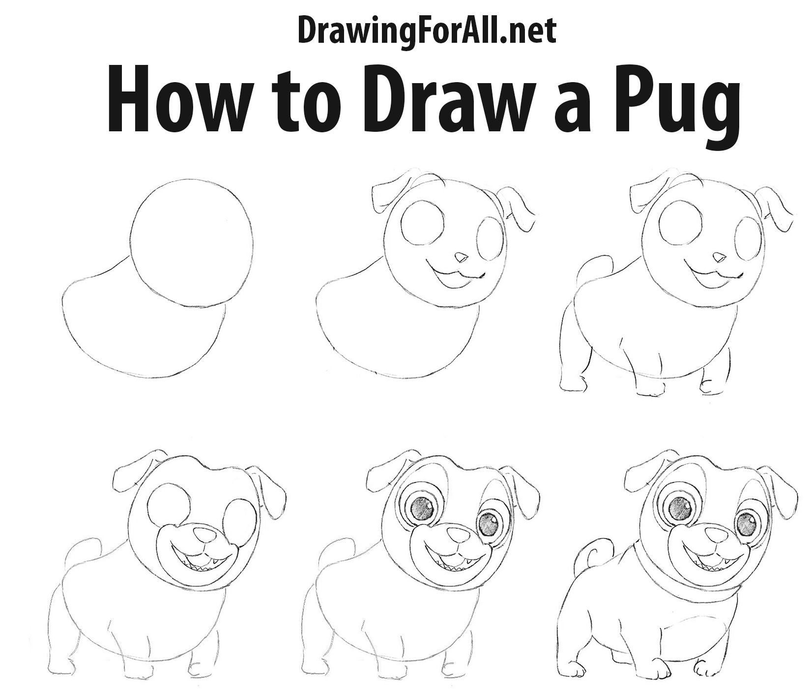 how to draw a pug face pug outline drawing at paintingvalleycom explore a face draw pug to how