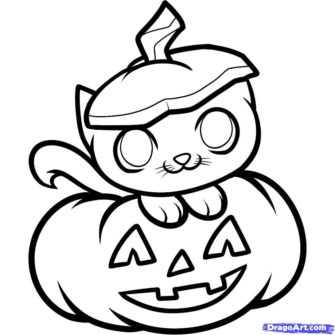 how to draw a punkin how to draw a halloween cat halloween cat step 8 in 2019 draw punkin to a how