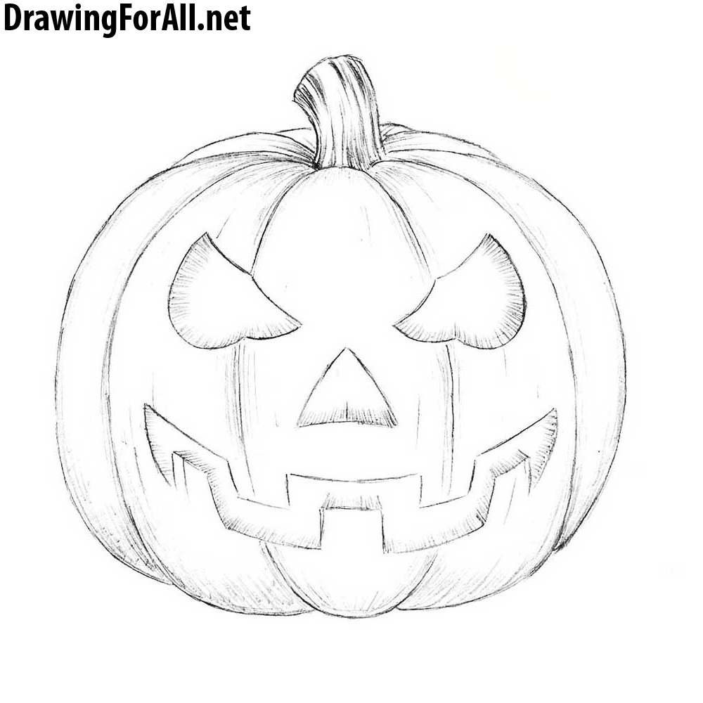 how to draw a punkin how to draw a halloween pumpkin drawingforallnet draw to punkin a how