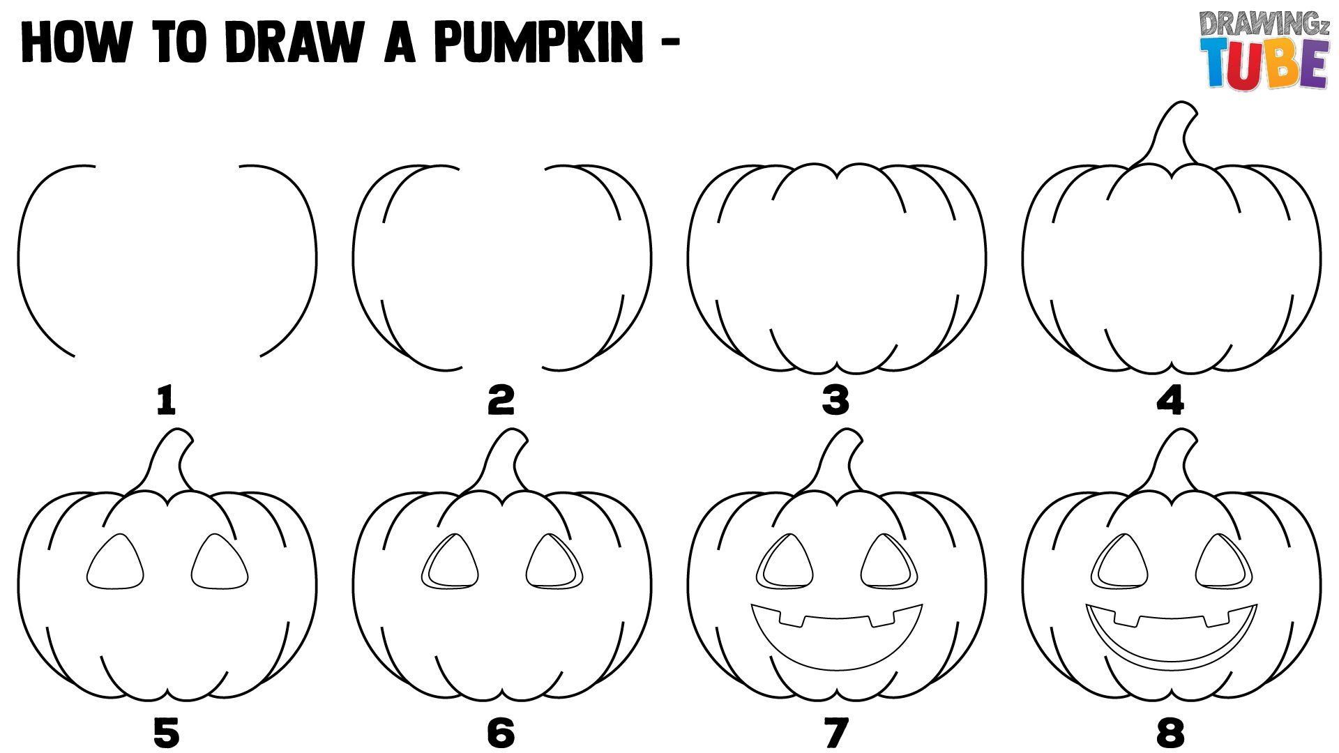 how to draw a punkin how to draw a halloween pumpkin for kids pumpkin drawing punkin draw a how to