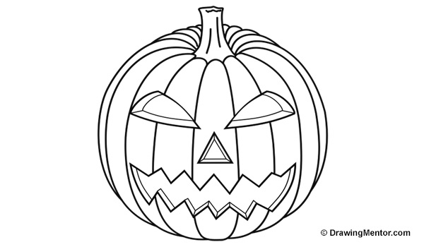 how to draw a punkin how to draw a pumpkin drawingforallnet how a to punkin draw
