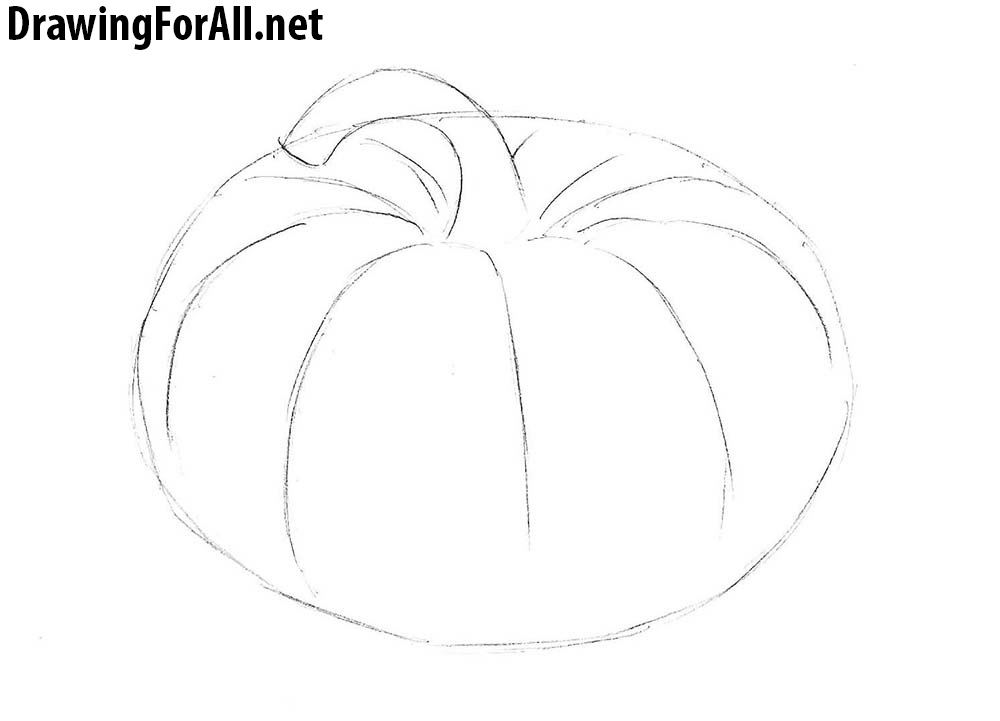 how to draw a punkin how to draw a pumpkin drawingforallnet how punkin a to draw 1 1