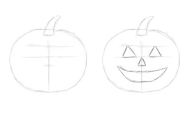how to draw a punkin how to draw a pumpkin step by step easy for halloween a draw punkin how to