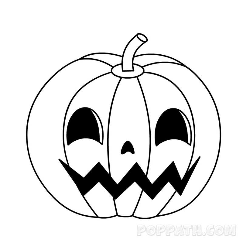 how to draw a punkin pumpkin drawing at getdrawings free download a punkin to draw how