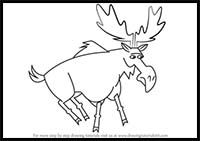how to draw a realistic moose horned toad drawing at getdrawings free download realistic moose a draw to how