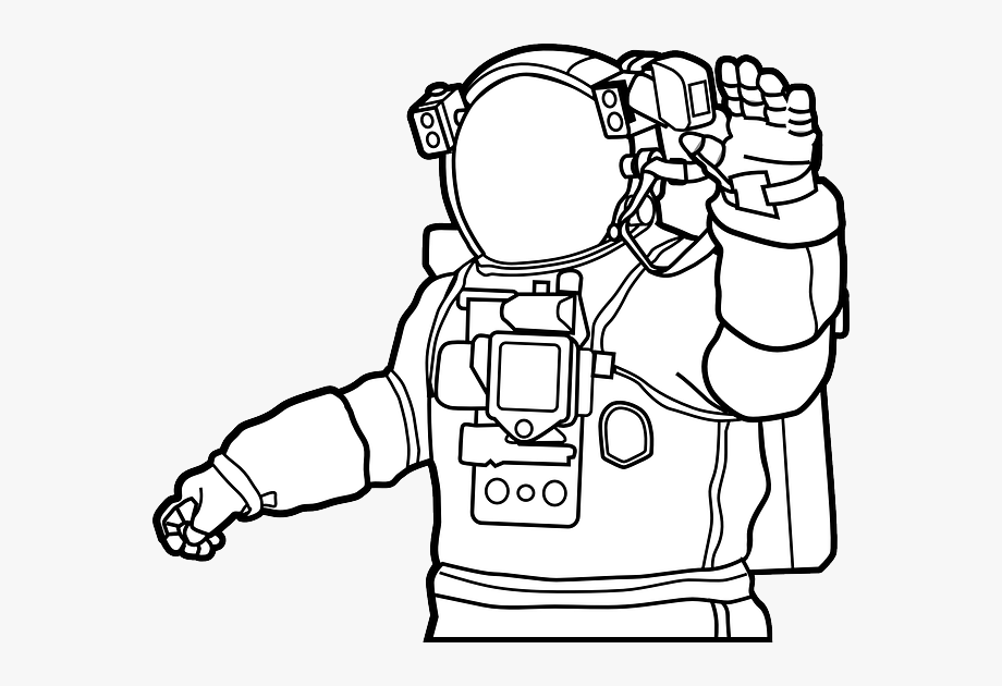 how to draw a space suit astronaut line drawing free download on clipartmag to a suit how space draw