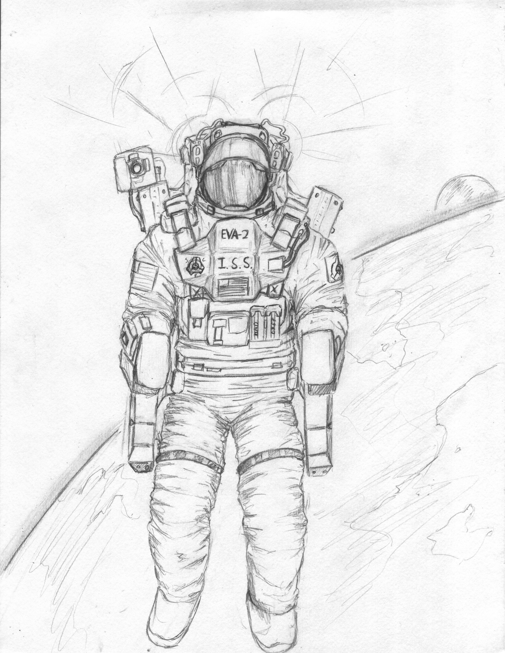 how to draw a space suit engraving draw with funny cool dude astronaut spaceman in a how suit draw space to