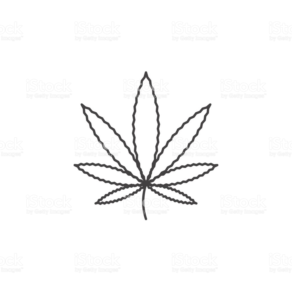 how to draw a weed leaf cannabis silhouette at getdrawings free download leaf to a how draw weed