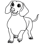 how to draw a wiener dog how to draw a simple wiener dog for kids a draw dog to wiener how