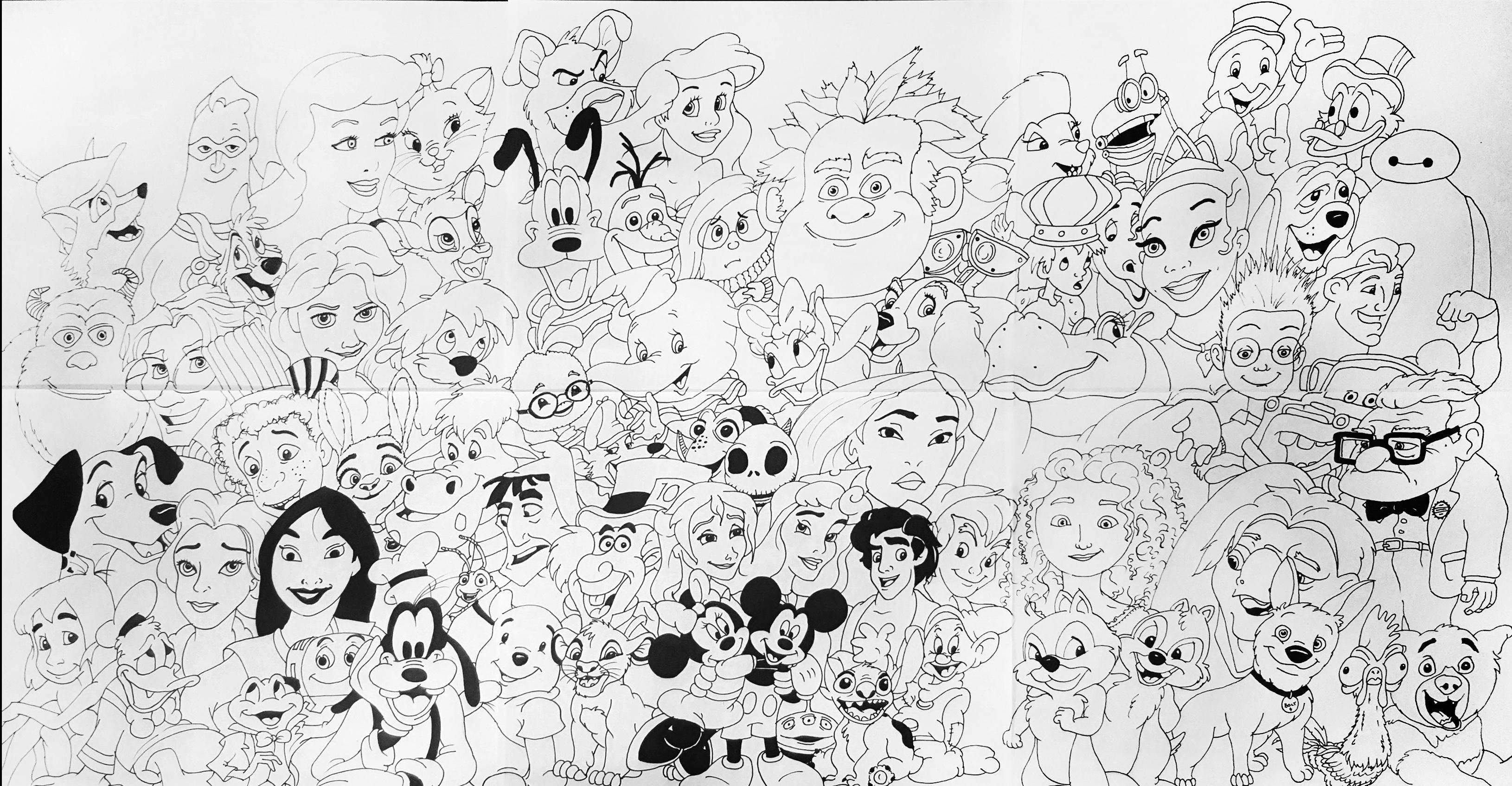 how to draw all the disney characters disney clipart easy disney easy transparent free for disney to draw the characters all how