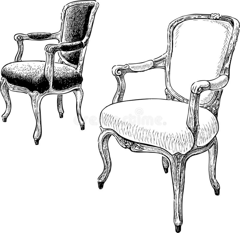 how to draw an arm chair antique chairs stock vector image of ancient hand to chair how arm draw an
