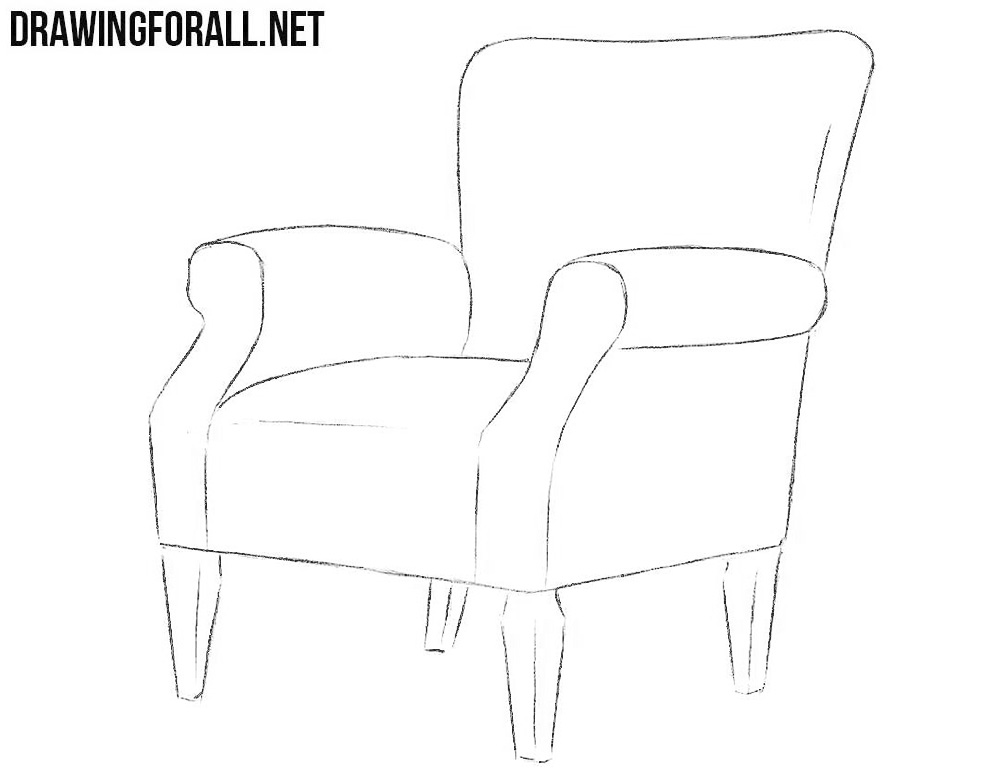 how to draw an arm chair armchair drawing at getdrawings free download draw chair arm how to an