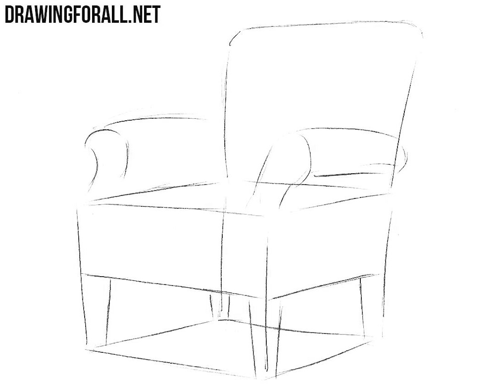 how to draw an arm chair how to draw an armchair drawingforallnet an arm draw how chair to