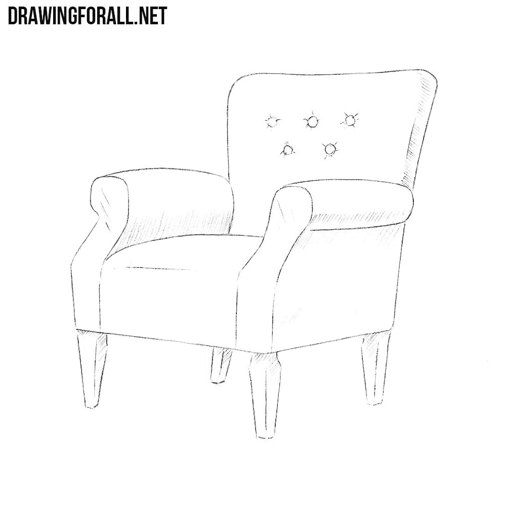 how to draw an arm chair how to draw an armchair drawingforallnet chair how an draw to arm