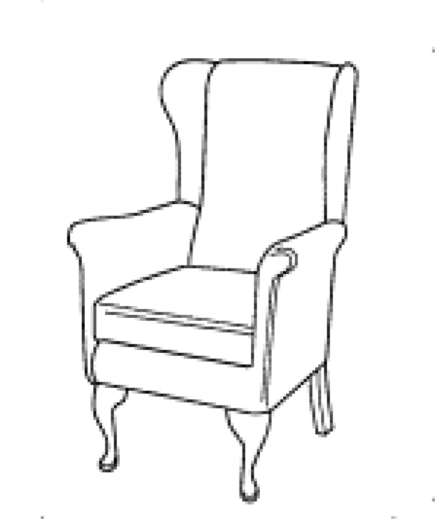 how to draw an arm chair onlinelabels clip art armchair lineart how arm an to chair draw
